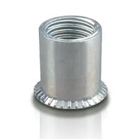 Steel Cylindrical Head Plain Body Open End Rivet Nut