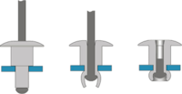 Illustration Of Various Styles Of Rivets When Set